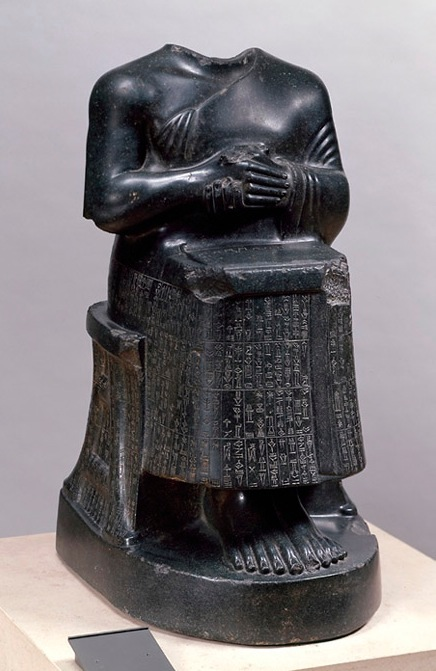 seated statue of gudea